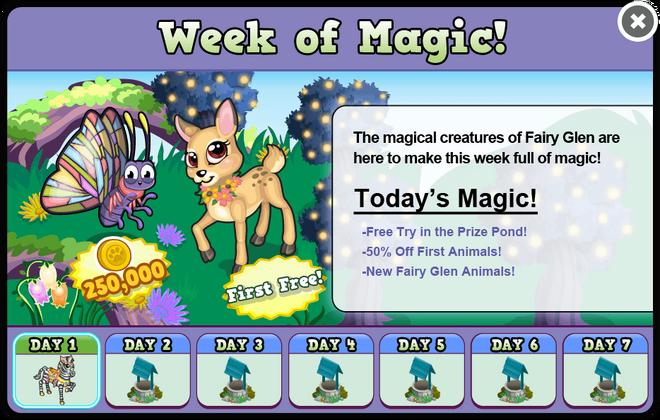 Fairy glen week1 modal