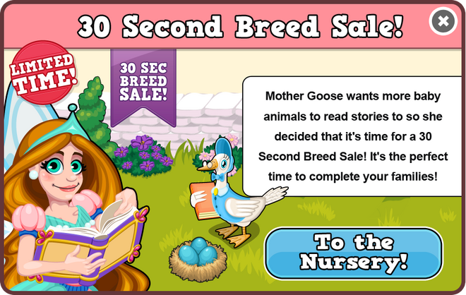 Fairytale breed sale modal