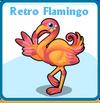 Retro flamingo card