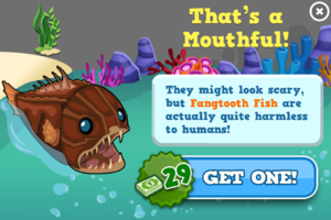 Fangtooth fish modal