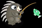 Fishing porcupine single