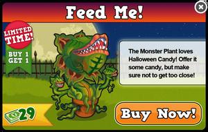 Monster plant modal