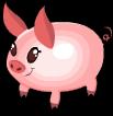 Easter egg pig static