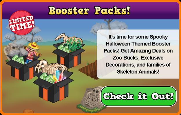 Skeleton booster packs modal