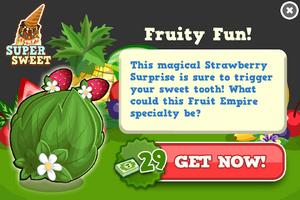 Strawberry sprite modal