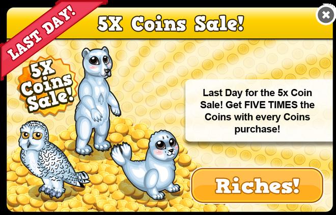 Arctic coin sale last modal