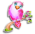Goal pink lovebird icon