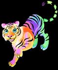 Rainbow glow tiger static