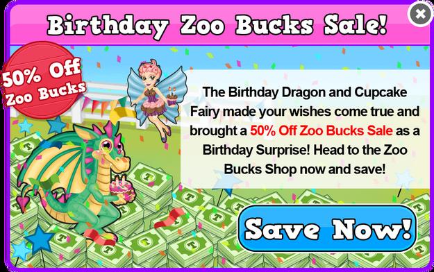 Birthday bucks sale modal