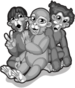 Three funny monkeys single