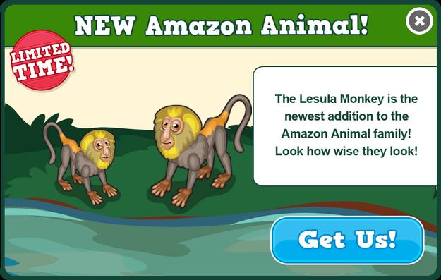 Lesula monkey modal