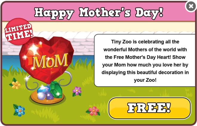 Mother's day decoration modal
