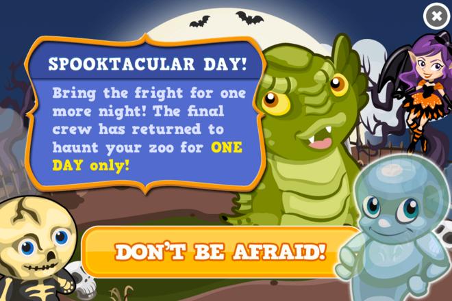 Spooktacular day modal
