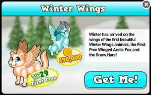 Winged arctic fox modal
