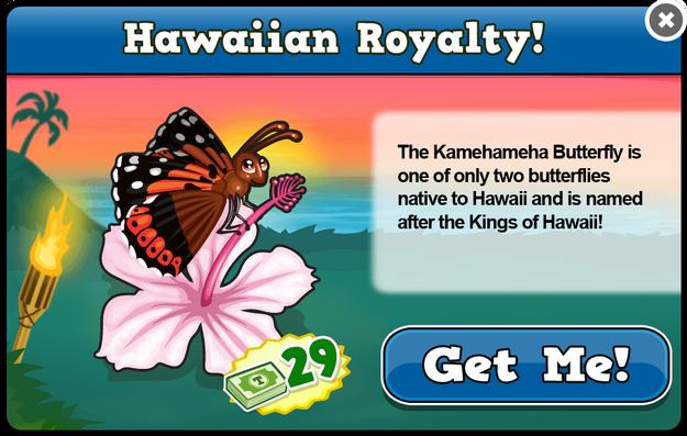 Kamehameha butterfly modal