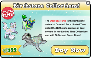 Birthstones collection modal