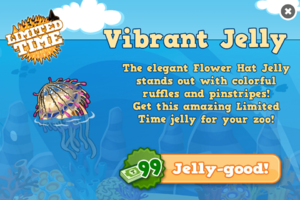 Flower hat jelly modal