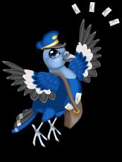 Mail man pigeon an