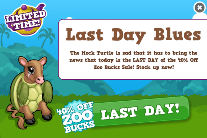 Wonderland buck sale last modal