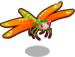 Carnelian dragonfly single