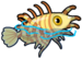 Fuzzy yellow lionfish single