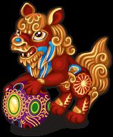 Temple lion single
