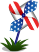 BoosterPack Fourth of July Pinwheel