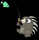 Fishing porcupine an