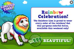 Rainbow lion modal