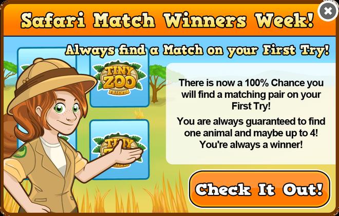 Safari match winners week modal