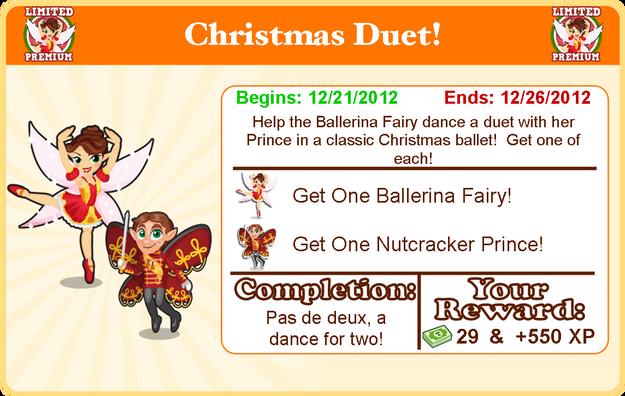 Ballerina fairy goal modal