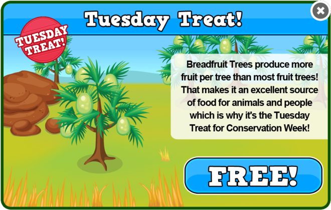 Conservation tuesday treat modal