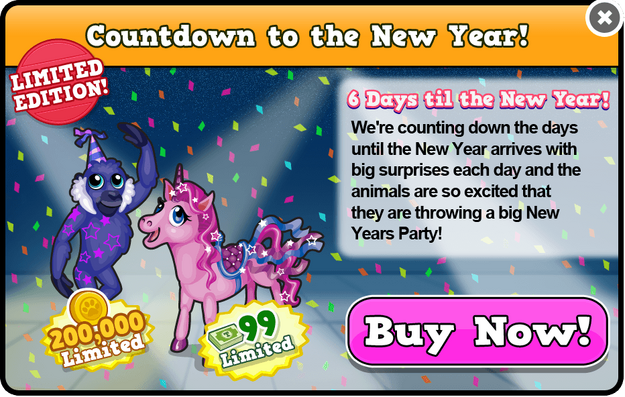 Party unicorn modal