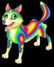 Rainbow husky static