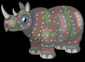Serengeti rhino single