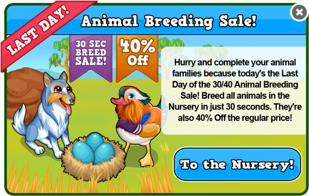 Colors! breeding sale last modal