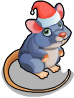 Christmas village mouse static