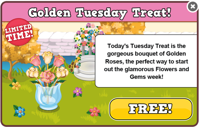 Flowers & gems tuesday treat modal