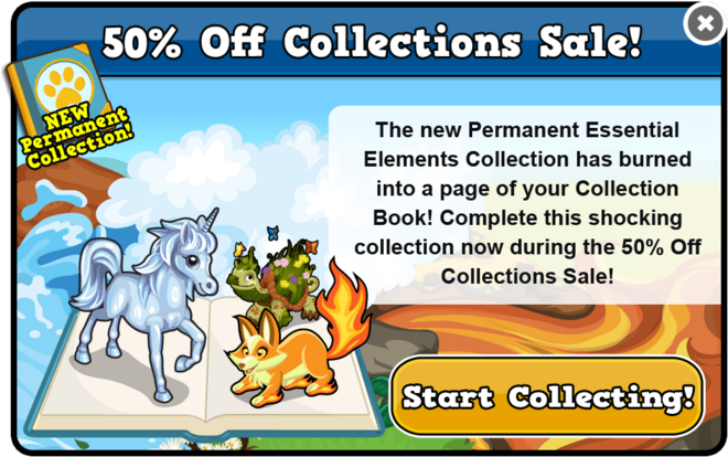 Elemental collection modal