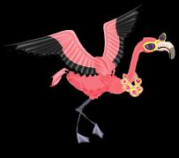 Luau flamingo an