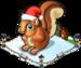 Christmas village squirrel single