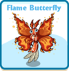 Flame butterfly card