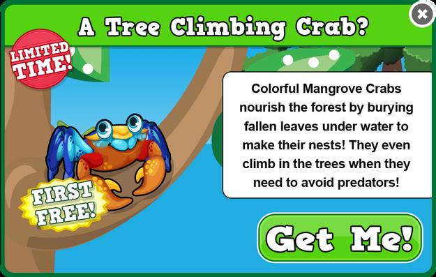 Mangrove crab modal