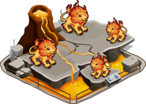Fire lion family