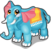 Aquamarine elephant single