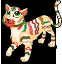 Ribbon candy tiger static