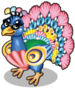 Seashell peacock single