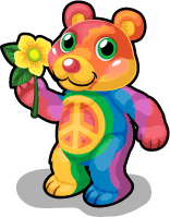 Tye dye bear single