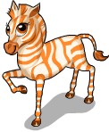 Orange zebra static