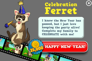 Celebration ferret animators modal